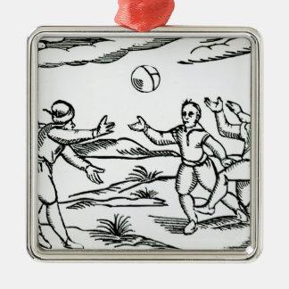 Elizabethan Football Christmas Ornament