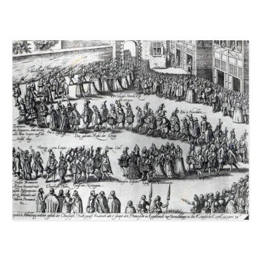 Elizabethan Procession Postcard