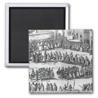 Elizabethan Procession Square Magnet