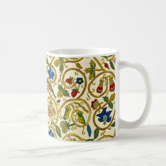 Elizabethan Swirl Embroideries - Goldwork imitatio Coffee Mug