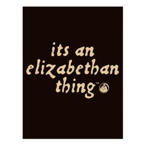 Elizabethan Thing (TM) Postcards