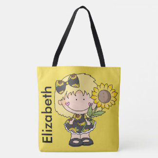 Elizabeth's Personalized Sunflower Tote Bag