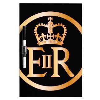 Elizabeth's Reign Emblem Dry Erase Board