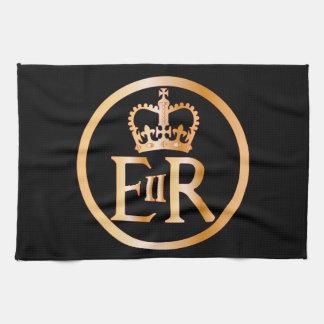 Elizabeth's Reign Emblem Tea Towel