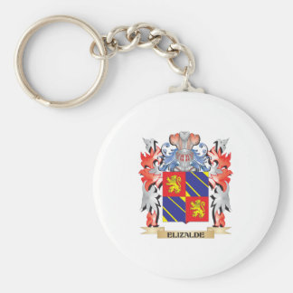 Elizalde Coat of Arms - Family Crest Basic Round Button Key Ring