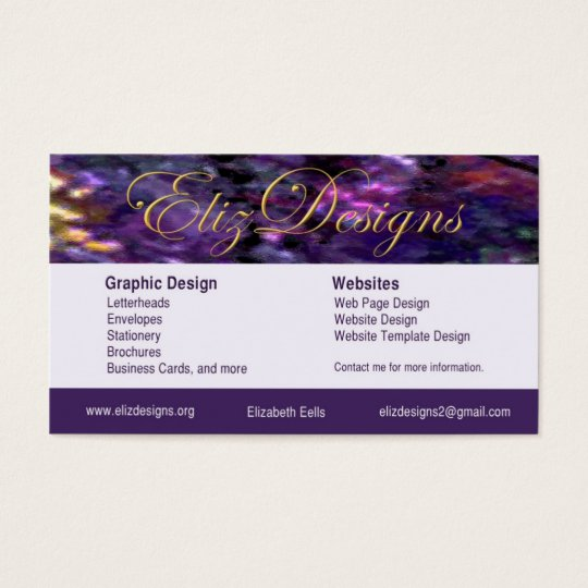 ElizDesigns Business Card