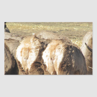 Elk Booty Rectangular Sticker