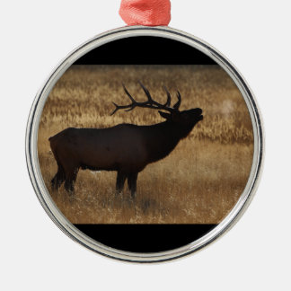 elk bugle and steam christmas ornament