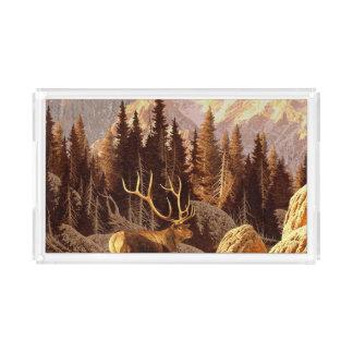 Elk Bull Acrylic Tray