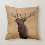 elk charging throw cushions