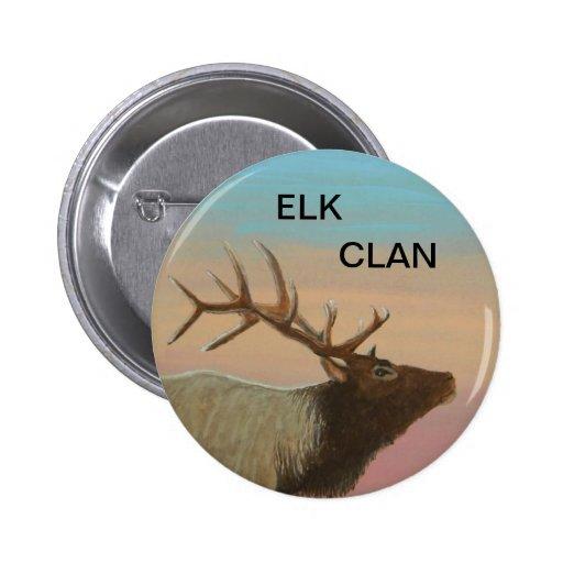 ELK CLAN. BUTTONS