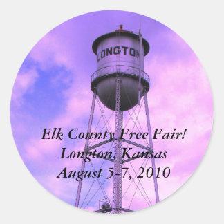 Elk County Free Fair! Longton, Kansas Round Sticker
