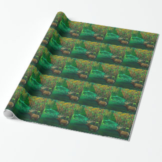 Elk Fall Acrylic Abstract Wrapping Paper