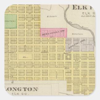 Elk Falls, Longton, Oak Valley, Kansas Square Sticker