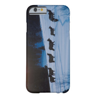 Elk herd walking through field barely there iPhone 6 case