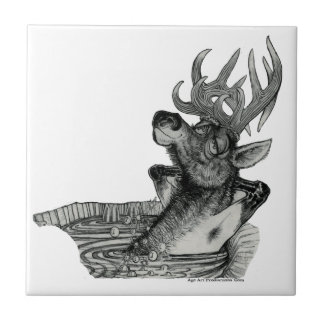 ELK IN HOTTUB TILE