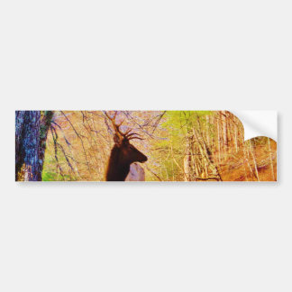 Elk in the snow bumper sticker