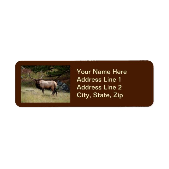 Elk in the Wild Return Address Label