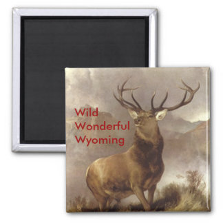"ELK MAGNETS MOUNTAIN ""WILD WONDERFUL WYOMING"""