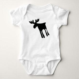 Elk/Moose, Sweden Baby Bodysuit