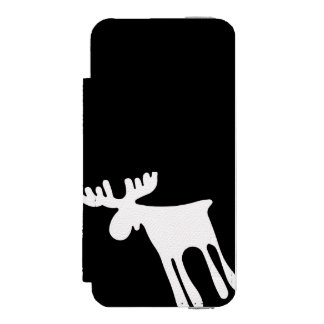 Elk/Moose, white Incipio Watson™ iPhone 5 Wallet Case