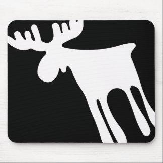 Elk/Moose, white Mouse Mat