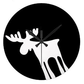 Elk/Moose, white Wallclock