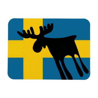 Elk/Moose with the Swedish flag Magnet