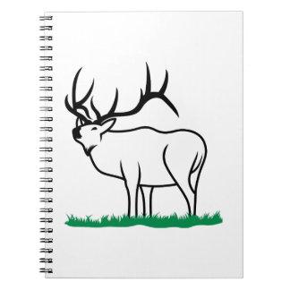 Elk Outline Spiral Notebook
