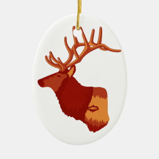 Elk Profile Christmas Ornament