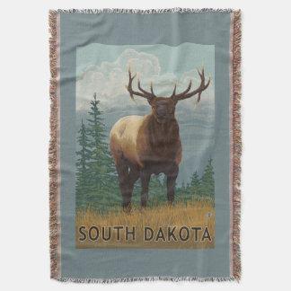 Elk SceneSouth Dakota Throw Blanket