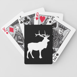 Elk Silhouette Bicycle Playing Cards