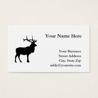 Elk Silhouette Business Card