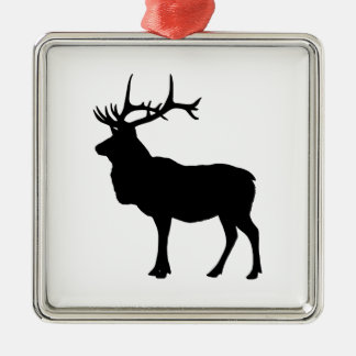 Elk Silhouette Christmas Ornament