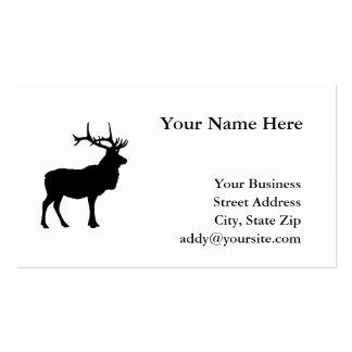Elk Silhouette Pack Of Standard Business Cards