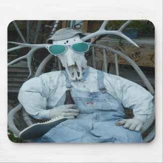 Elk skeleton head Mousepad