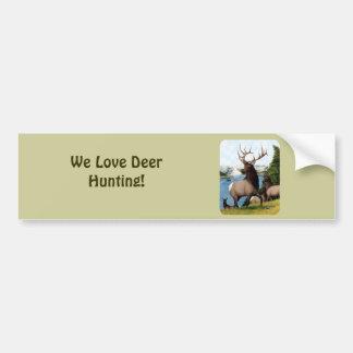 Elk Wapiti Bumper Sticker