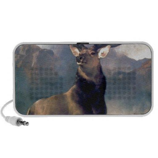Elk wild animal painting PC speakers