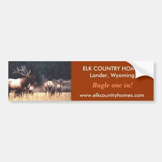 Elk, www.elkcountryhomes.com, ELK ... - Customised Bumper Sticker