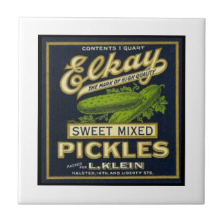 Elkay Sweet MIxed Pickles Small Square Tile