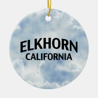 Elkhorn California Christmas Ornament