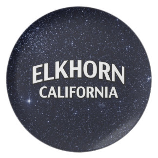Elkhorn California Party Plate