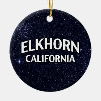 Elkhorn California Round Ceramic Decoration