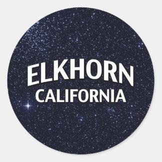 Elkhorn California Round Sticker