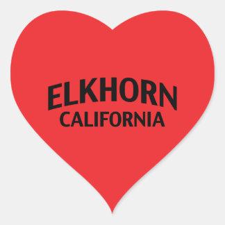 Elkhorn California Heart Sticker