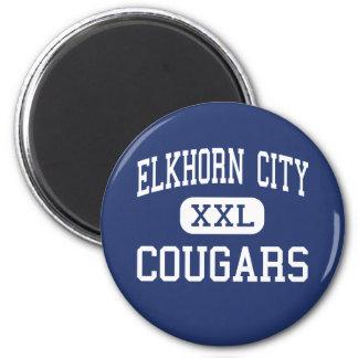 Elkhorn City - Cougars - High - Elkhorn City Fridge Magnets