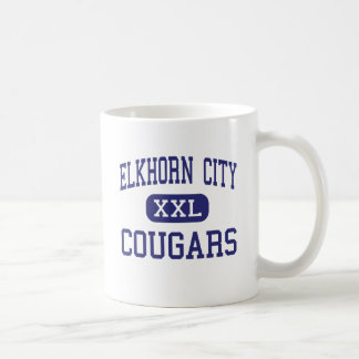 Elkhorn City - Cougars - High - Elkhorn City Coffee Mugs