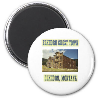 Elkhorn Ghost Town 6 Cm Round Magnet