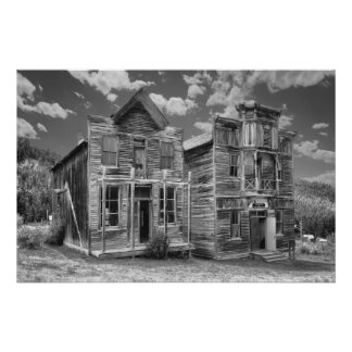 Elkhorn Ghost Town Public Halls - Montana Poster