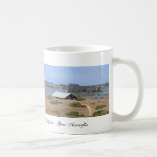 Elkhorn Slough Natural Reserve Panoramic Basic White Mug